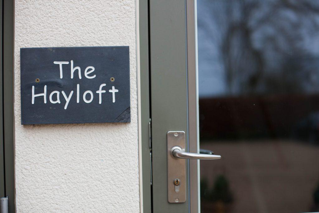 The Hayloft Accommodation Sign