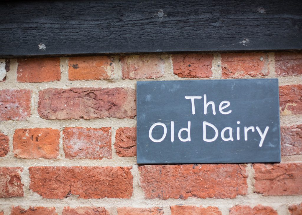 The Old Dairy Accommodation Sign