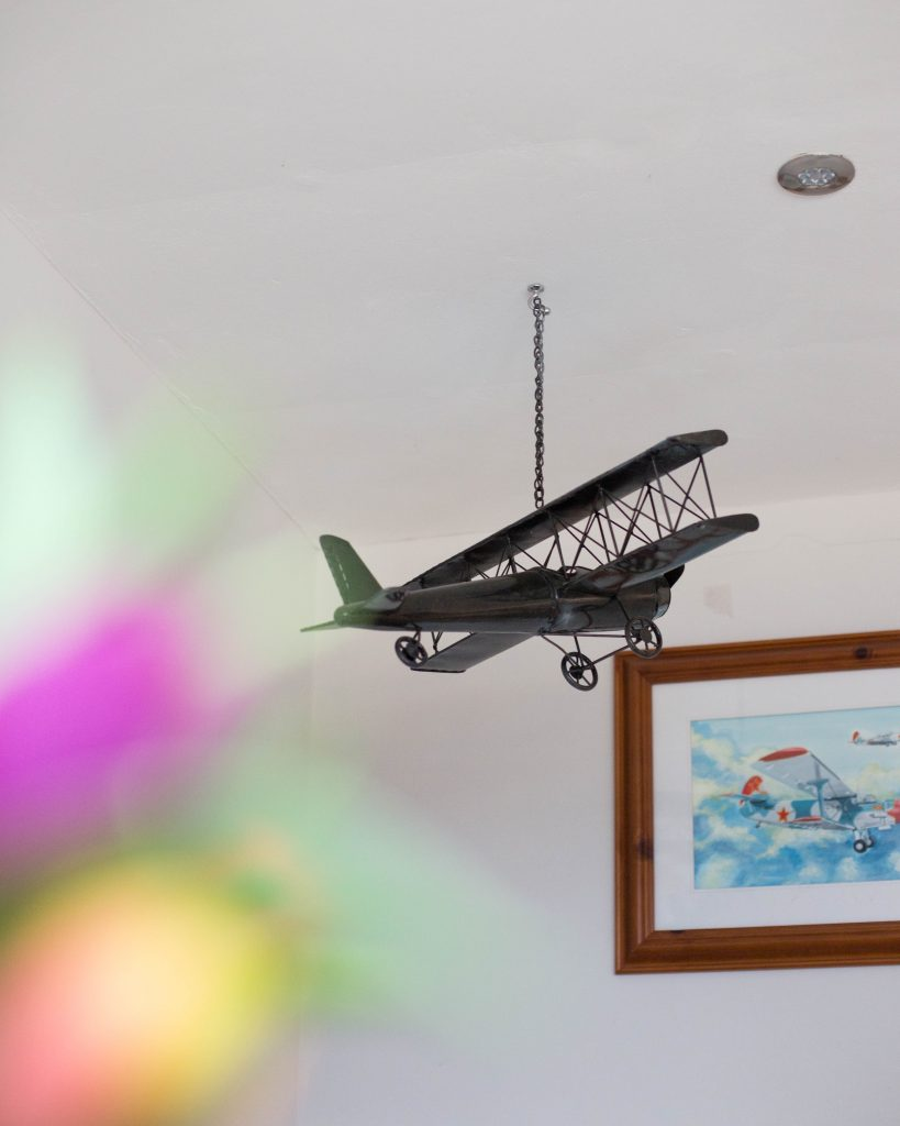 Model Plane in room setting